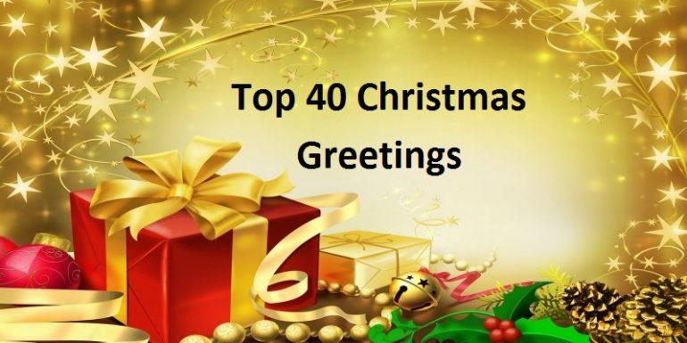 Top 40 Christmas Greetings