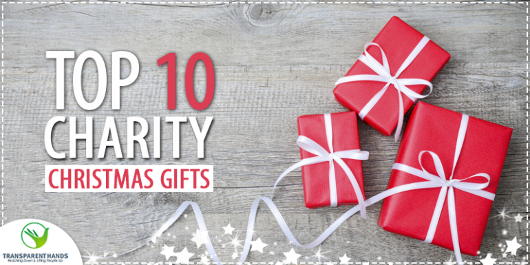 Top 10 Charity Christmas Gifts - Transparent Hands
