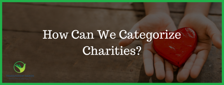 How Can We Categorize Charities
