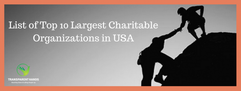 List of Top 10 Largest Charitable Organizations in USA