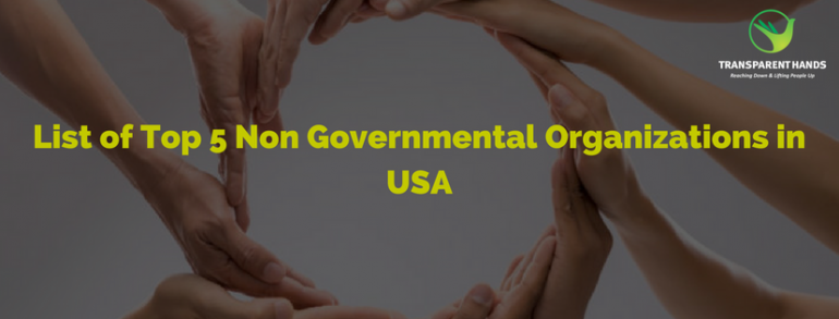 List of Top 5 Non Governmental Organizations in USA