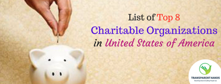 List of Top 8 Charitable Organizations in United States of America