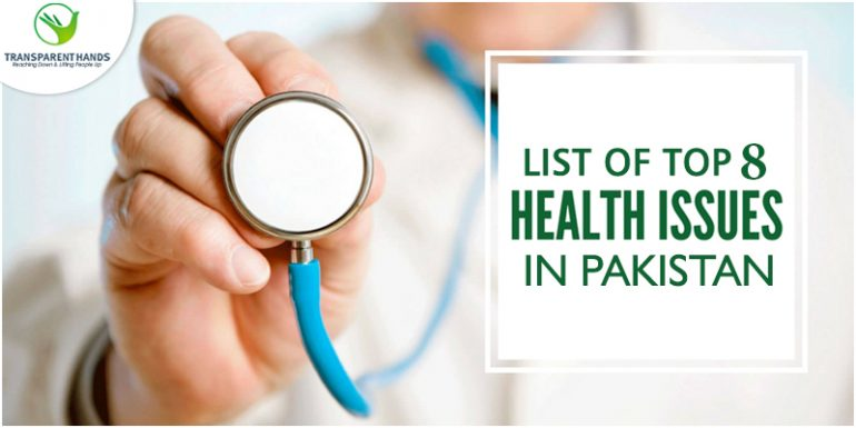 list of top 8 health issues in pakistan transparent hands