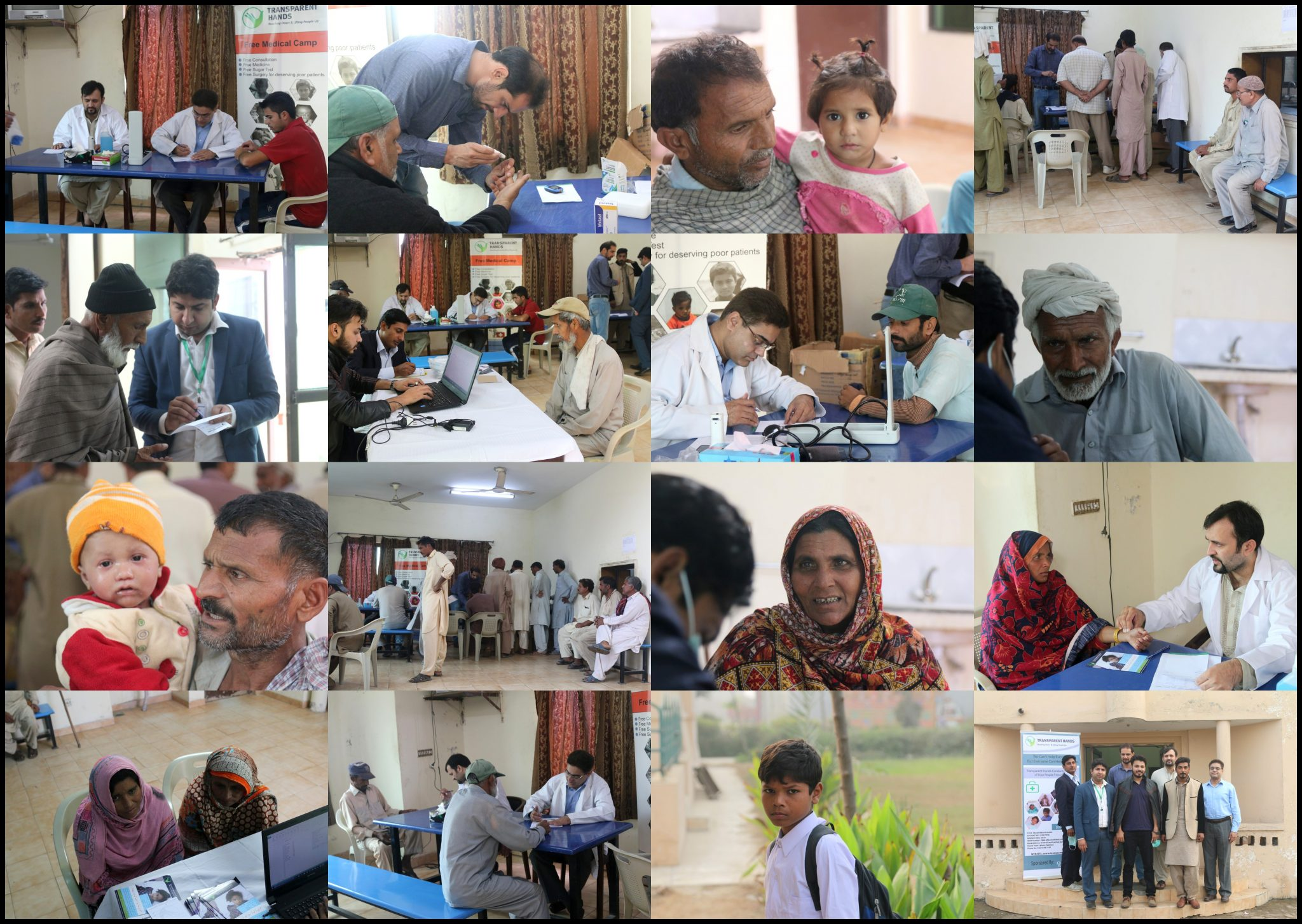 Transparent Hands Organized Free Medical Camp Sponsored By Reem Rice Mills Pvt Ltd.