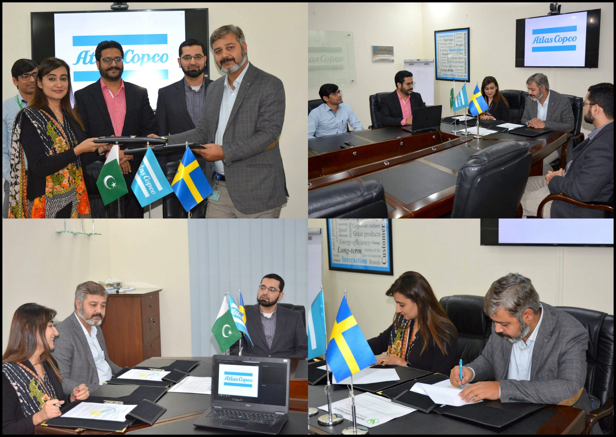 Transparent Hands to Collaborate with Atlas Copco Pakistan