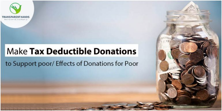 Make Tax Deductible Donations to Support Poor