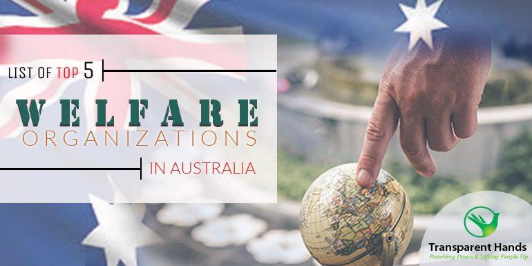 List of top 5 Welfare Organizations in Australia
