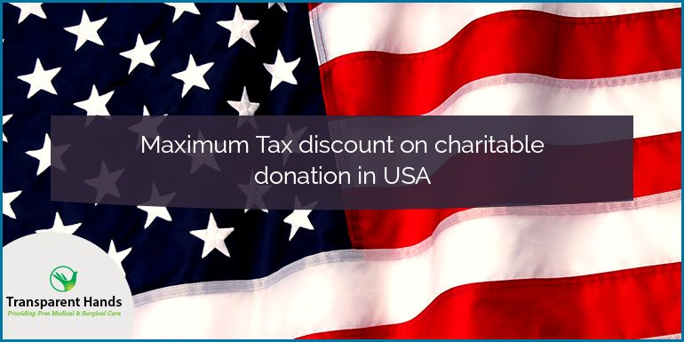 Maximum Tax Discount on Charitable Donation in USA
