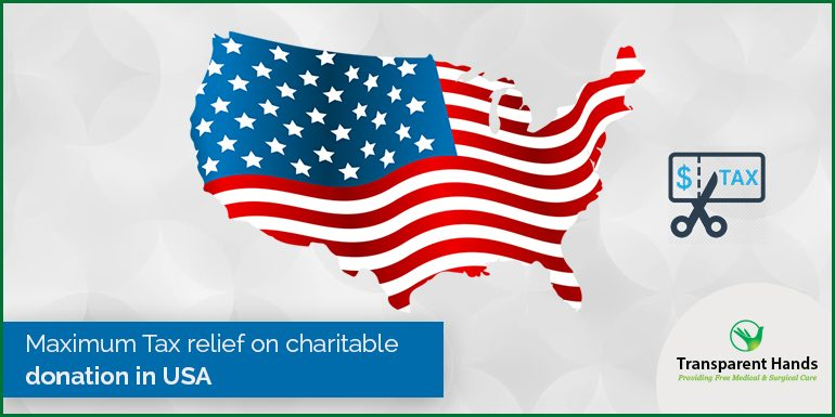Maximum Tax Relief on Charitable Donation in USA