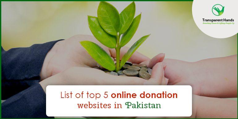 List of Top 5 Online Donation Websites in Pakistan