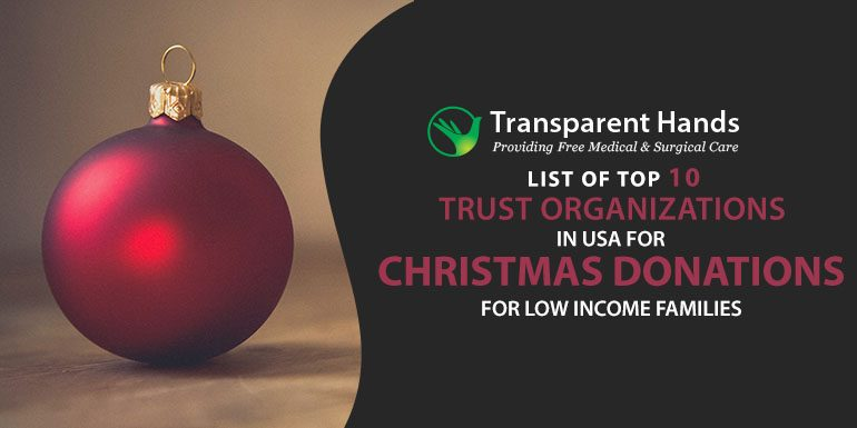 list of top 10 trust organizations in usa for christmas donations