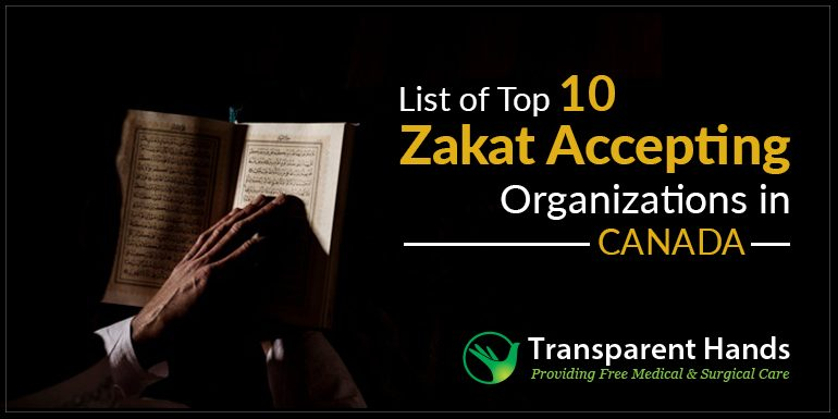 List of Top 10 Zakat Accepting Organizations in Canada