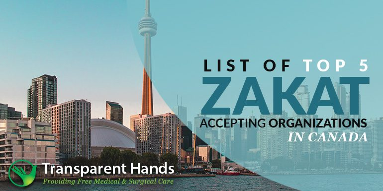 List of Top 5 Zakat Accepting Organizations in Canada