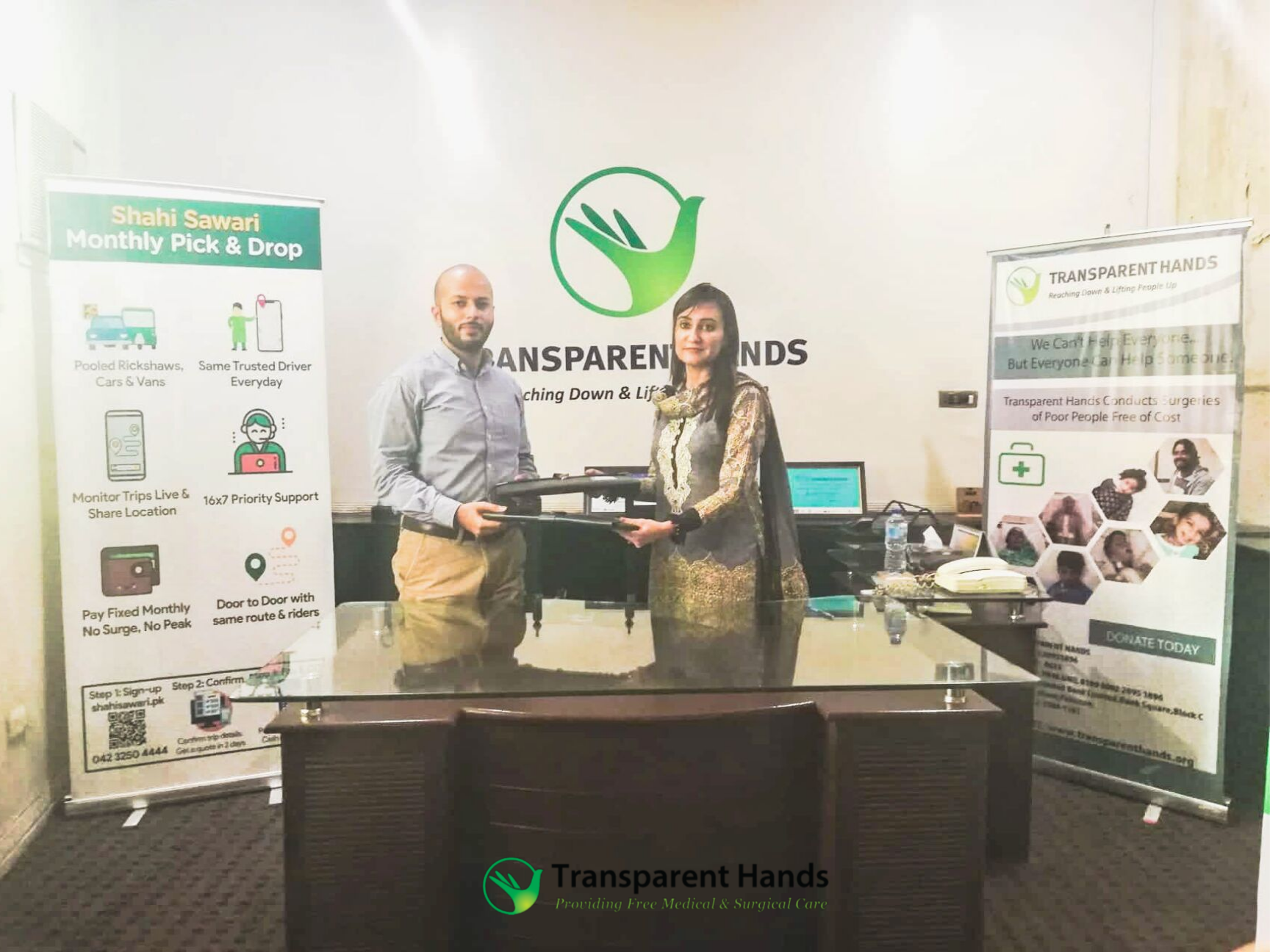 Transparent Hands Collaborates with Shahi Sawari