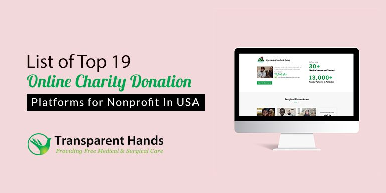 List of Top 19 Online Charity Donation Platforms for Nonprofit in USA