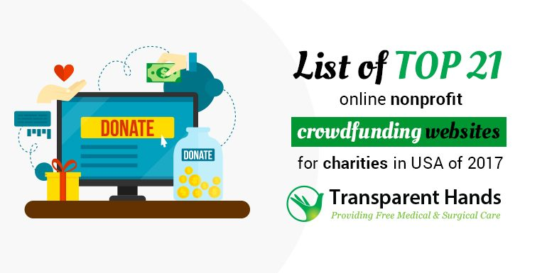 List of Top 21 Online Nonprofit Crowdfunding Websites for Charities in USA of 2017
