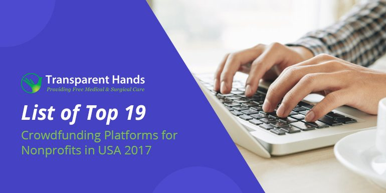 List of Top 19 Crowdfunding Platforms for Nonprofits in USA 2017