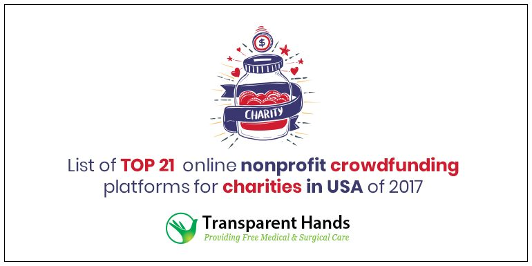List of Top 21 Online Nonprofit Crowdfunding Platforms for Charities in USA of 2017