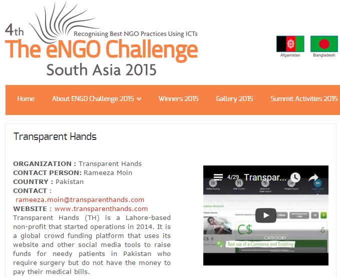 ENGO Challenge award